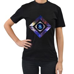 Center of Existence Womens' Two Sided T-shirt (Black)