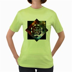 Twisted Universe Womens  T-shirt (Green)