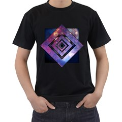Twisted Universe Mens' Two Sided T-shirt (Black)