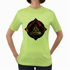 Life, Death, and The Unknown Womens  T-shirt (Green)