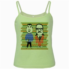 The Cheeky Buddies Green Spaghetti Tank