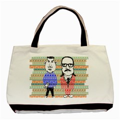 The Cheeky Buddies Twin-sided Black Tote Bag