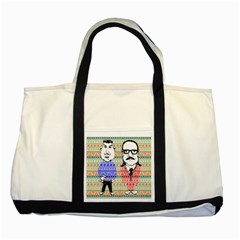 The Cheeky Buddies Two Toned Tote Bag