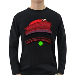 The Princess And The Pea Mens' Long Sleeve T-shirt (Dark Colored)