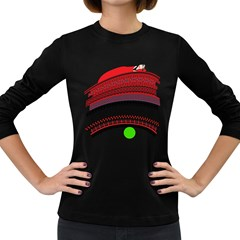 The Princess And The Pea Womens' Long Sleeve T-shirt (Dark Colored)