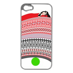 The Princess And The Pea Apple iPhone 5 Case (Silver)