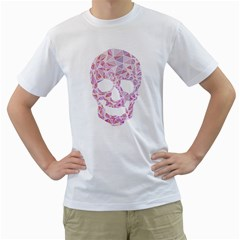 TriSkull Mens  T-shirt (White)