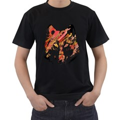 Wolf Mens' T Shirt (black)