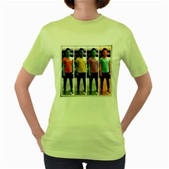Man Of Color Womens  T-shirt (Green)