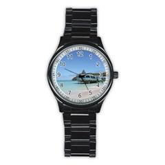 Tropical Paradise Pier On Antigua Sport Metal Watch (black)