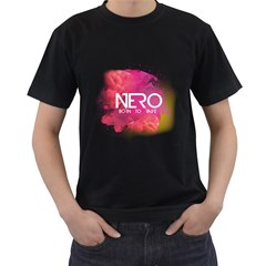 Nero ! Born To Rave! Mens' Two Sided T Shirt (black)