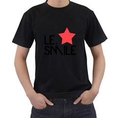 Le. Smile Mens' Two Sided T-shirt (Black)