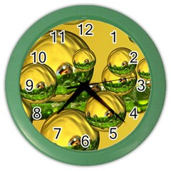 Balls Wall Clock (color)