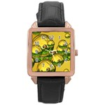 Balls Rose Gold Leather Watch  Front
