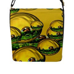 Balls Flap Closure Messenger Bag (Large)