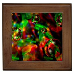 Fantasy Welt Framed Ceramic Tile