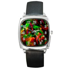 Fantasy Welt Square Leather Watch