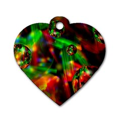 Fantasy Welt Dog Tag Heart (Two Sided)