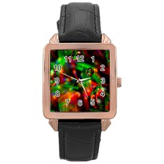 Fantasy Welt Rose Gold Leather Watch
