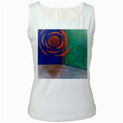Red Orb Womens  Tank Top (White)