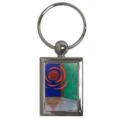 Red Orb Key Chain (rectangle)