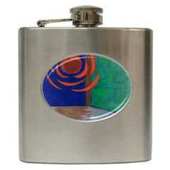 Red Orb Hip Flask