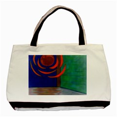 Red Orb Twin-sided Black Tote Bag