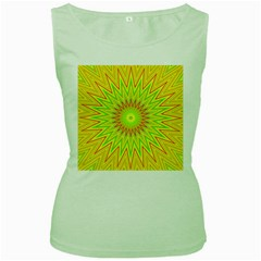 Mandala Womens  Tank Top (green)