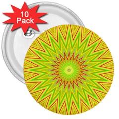 Mandala 3  Button (10 pack)