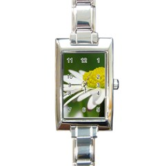 Daisy With Drops Rectangular Italian Charm Watch