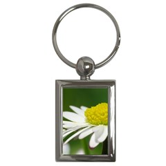 Daisy With Drops Key Chain (Rectangle)
