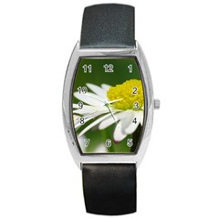 Daisy With Drops Tonneau Leather Watch