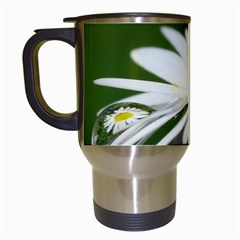 Daisy With Drops Travel Mug (white)