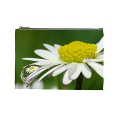 Daisy With Drops Cosmetic Bag (Large)