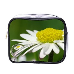 Daisy With Drops Mini Travel Toiletry Bag (One Side)