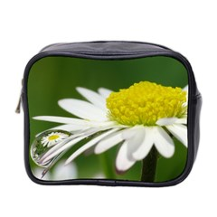 Daisy With Drops Mini Travel Toiletry Bag (two Sides)