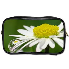 Daisy With Drops Travel Toiletry Bag (One Side)