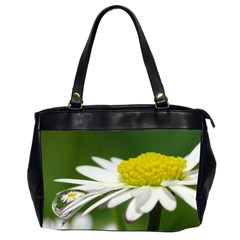 Daisy With Drops Oversize Office Handbag (two Sides)
