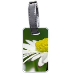 Daisy With Drops Luggage Tag (two Sides)