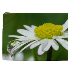 Daisy With Drops Cosmetic Bag (XXL)