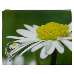 Daisy With Drops Cosmetic Bag (XXXL)