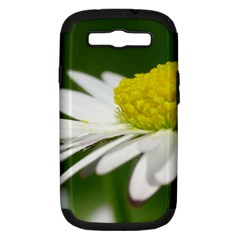 Daisy With Drops Samsung Galaxy S III Hardshell Case (PC+Silicone)