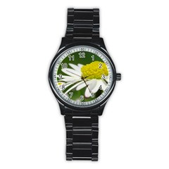 Daisy With Drops Sport Metal Watch (black)