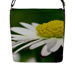 Daisy With Drops Flap Closure Messenger Bag (large)