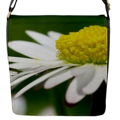 Daisy With Drops Flap Closure Messenger Bag (Small)