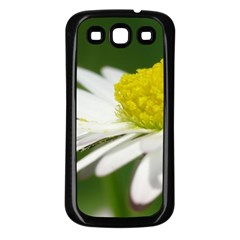 Daisy With Drops Samsung Galaxy S3 Back Case (Black)