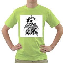 Skull & Tattoo Mens  T Shirt (green)