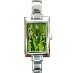 Grass Drops Rectangular Italian Charm Watch