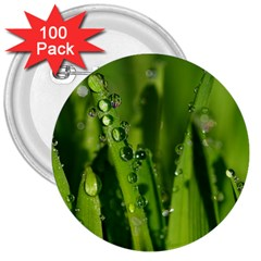 Grass Drops 3  Button (100 pack)