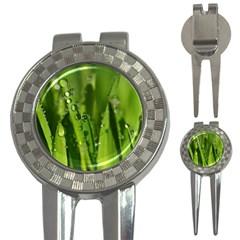 Grass Drops Golf Pitchfork & Ball Marker